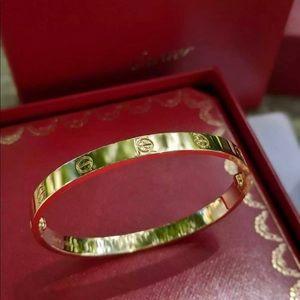 Authentic Cartier Love Bracelet Size 18 New